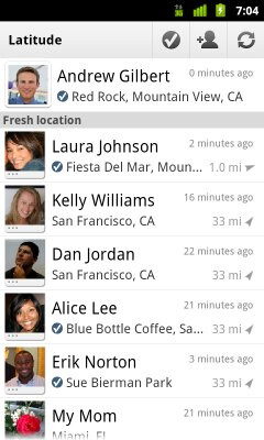 Google Latitude for Android adds new check-in feature