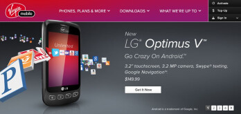 LG Optimus V is now officially being sold through Virgin Mobile for $150