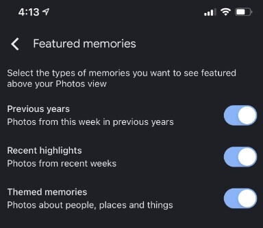 Google Photos users have some control over the categories of pictures they can see with the Memories feature - Google Photos will now show you your favorite beer moment in the Android/iOS versions of the app