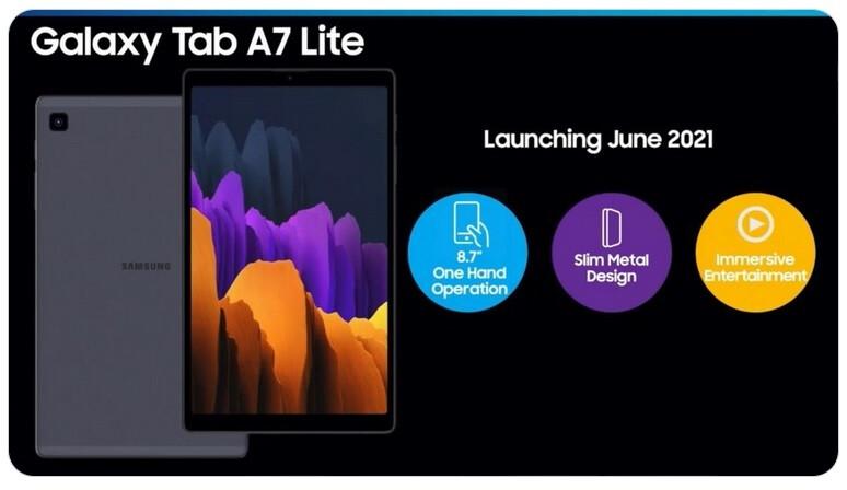 Samsung Galaxy Tab A7 Lite marketing material leaked by WalkingCat - Specs leak for the Samsung Galaxy Tab A7 Lite
