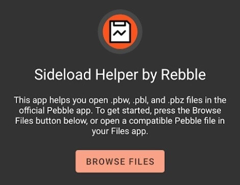 Would you like to use your old Pebble Watch with a modern Android phone? You need to install the Sideload Helper on your phone first. The app allows you to dust off your old Pebble Watch and use it with a new Android phone