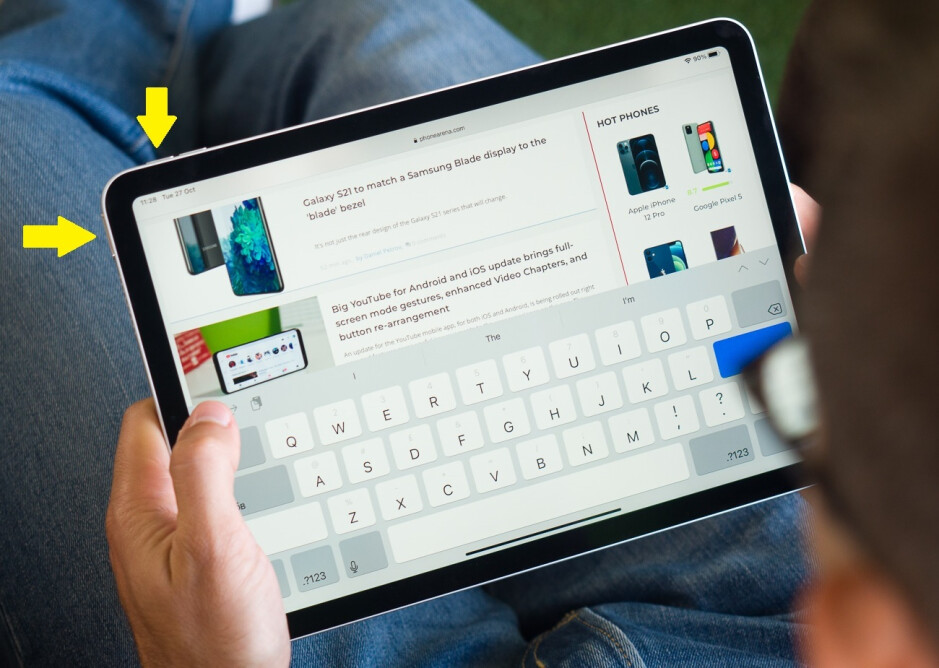 If you're rocking a recent iPad Pro or the 2020 iPad Air, press its power and volume up keys together to take a screenshot - How to take a screenshot on iPad