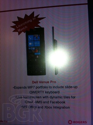 Dell Venue Pro is sneaking its way onto Rogers some time in March