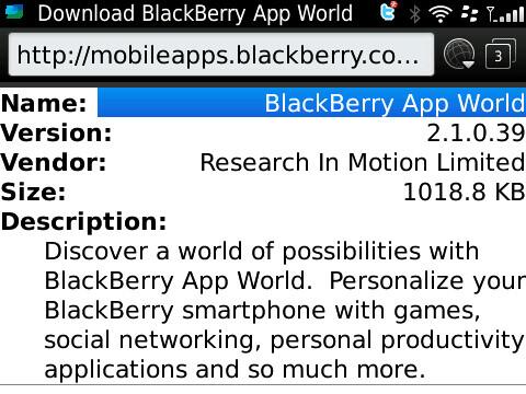 BlackBerry App World 2.1.0.39 offers in-app purchasing