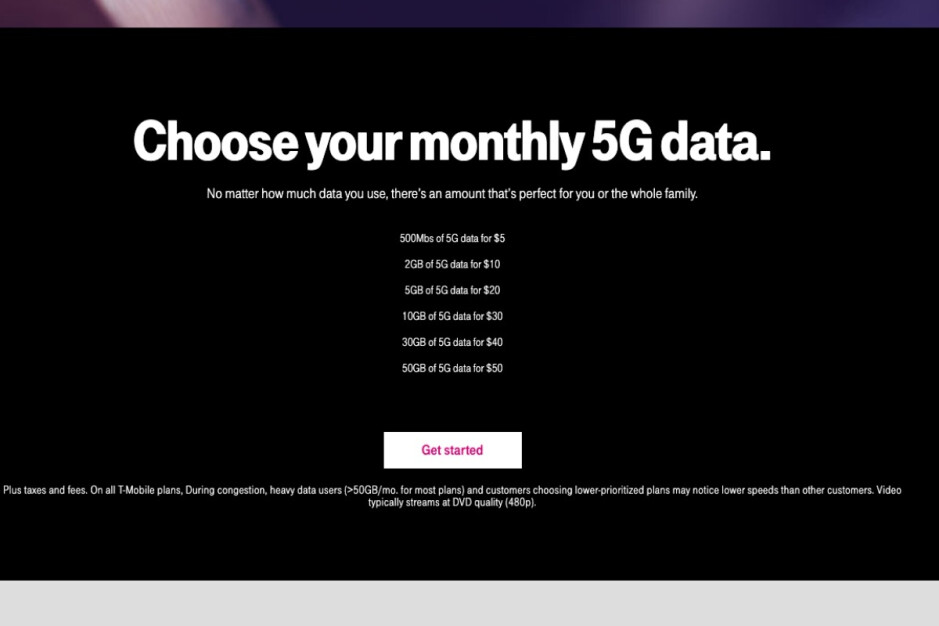 This is the newly revised structure of T-Mobile's 5G hotspot data plans - One of T-Mobile's greatest 5G plans has been downgraded, and (some) customers are livid