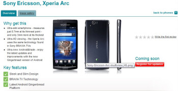 "Nokia E7 & Sony Ericsson Xperia arc are ""coming soon"" to Vodafone UK"