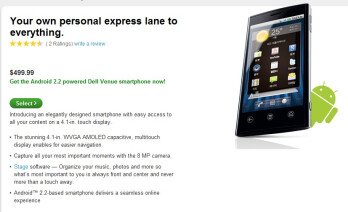 Android powered Dell Venue is now available unlocked for $499.99 through Dell only