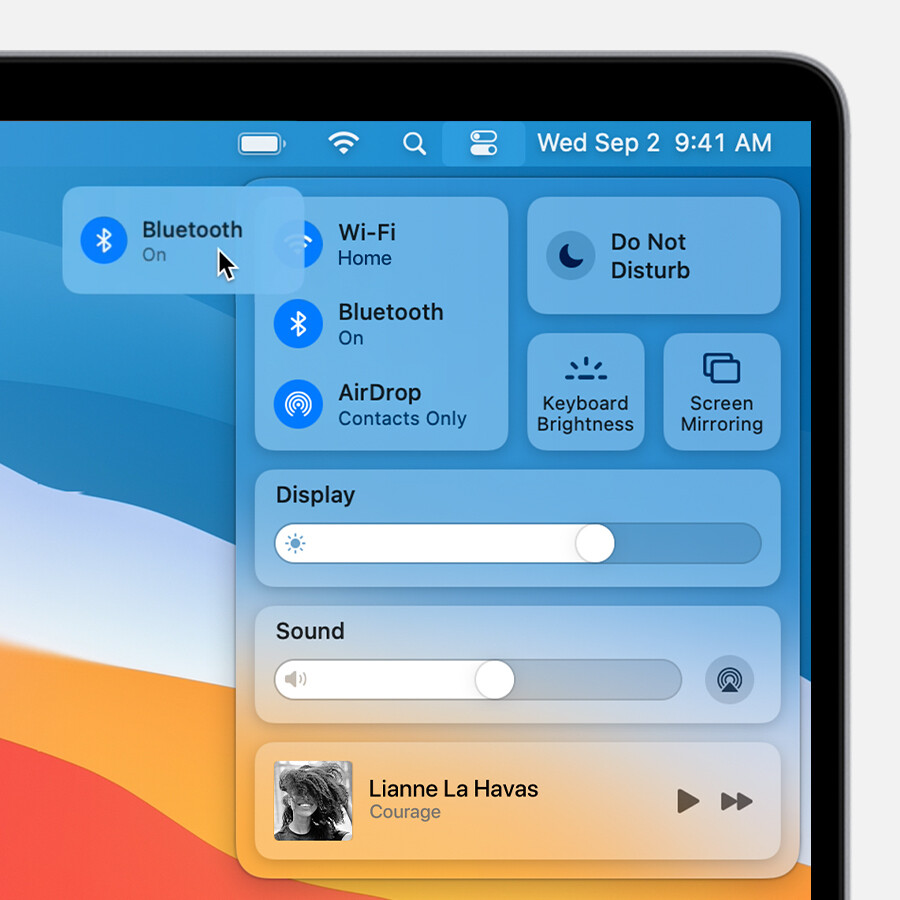The Big Sur Control Center could inspire iOS 15's one - iOS 15 might arrive with redesigned Control Center, Touch ID support