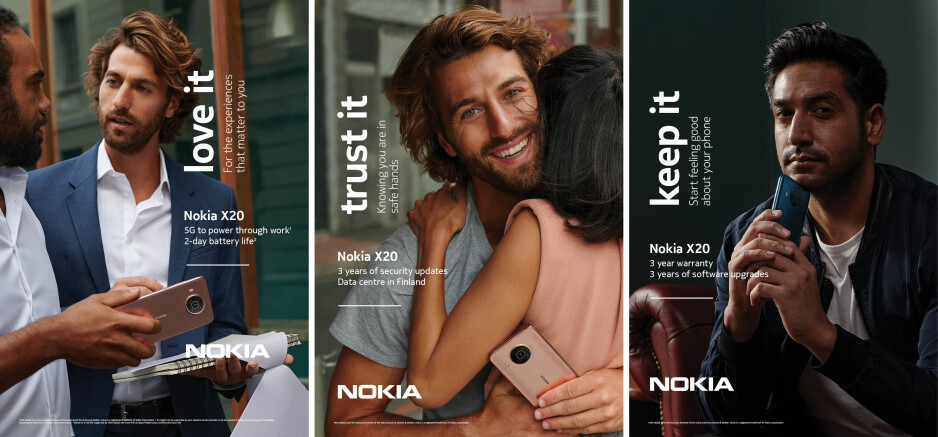 Nokia X20 promo material - Nokia's biggest phone launch introduces 6 new phones, built to last