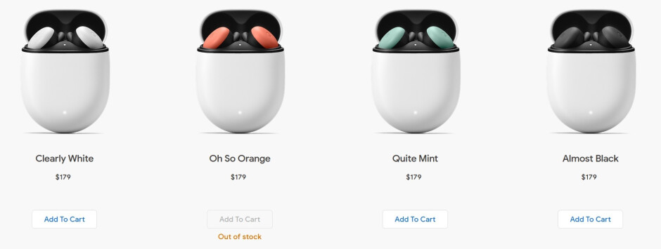 The Oh so Orange Google Pixel Buds are no longer available - Google discontinues one of the Google Pixel Buds' color options