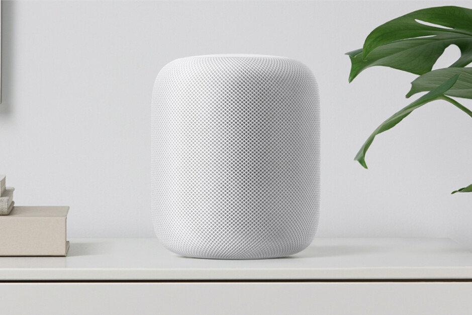 The now-discontinued HomePod - Apple developing TV box with integrated HomePod speaker, camera