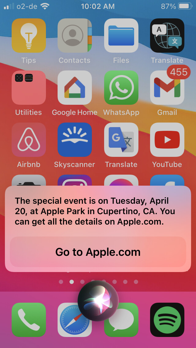 April 20 Apple event prematurely revealed by... Siri