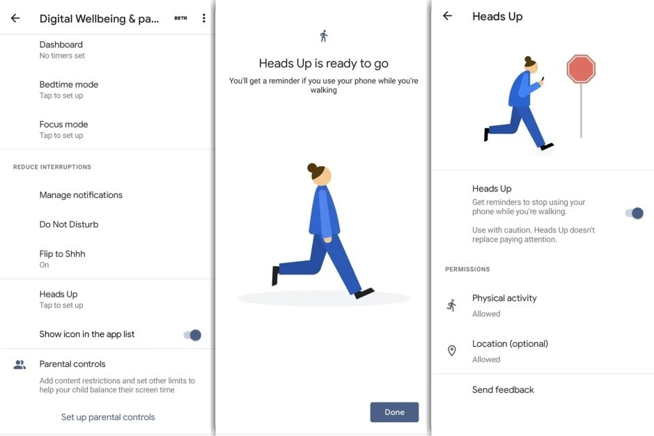 Google wants you to watch your step with the new Heads Up feature