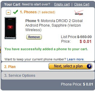Amazon slashes the price of the Motorola DROID 2 Global to a penny & DROID X to $20