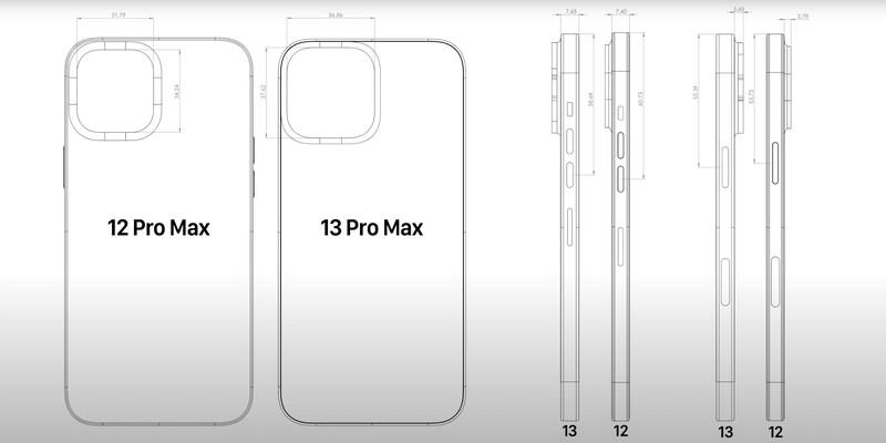 iPhone 13 Pro Max, iPhone 13 Mini design leaks: bigger camera bump with larger sensors