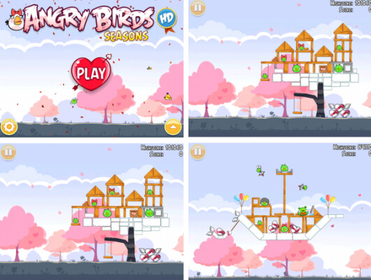 """Can your heart handle the Angry Birds Valentine's Day version set to launch February 14th? - Angry Birds Valentine's Day gets leaked; Rovio's Super Bowl ad to contain secret """"Rio"""" code"""