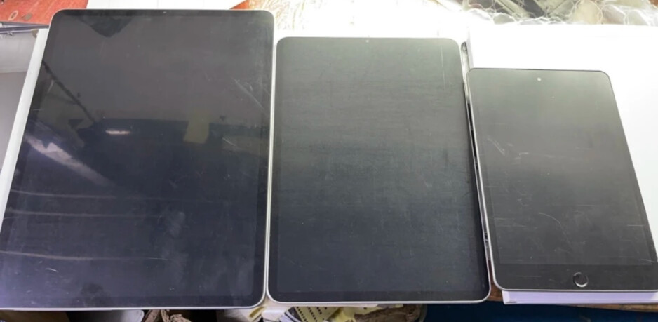 From left to right, mockups of the 12.9-inch iPad Pro, 11-inch iPad Pro and new iPad mini - Analyst says COVID-led Apple iPad growth will lead to unveiling of three new models on Tuesday