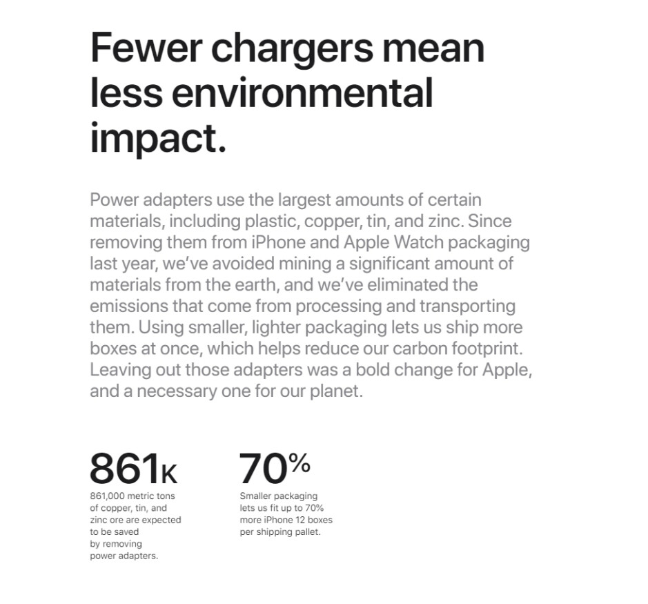 No iPhone 12 charger = environmental bonanza - Apple's charger-less iPhone 12 is the star of its latest environmental report