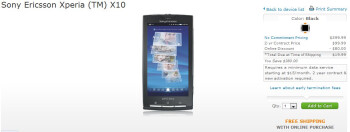 Sony Ericsson Xperia X10 for $19.99.