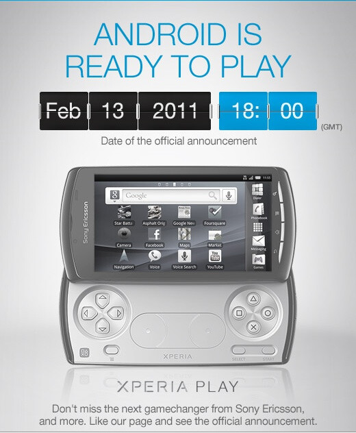 It's official - the Sony Ericsson XPERIA Play will be introduced on February 13
