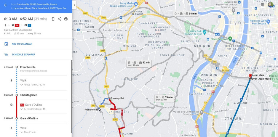 An update to Google Maps in some cities includes enhanced public transportation data - After update, Google Maps will no longer give you the fastest route by default