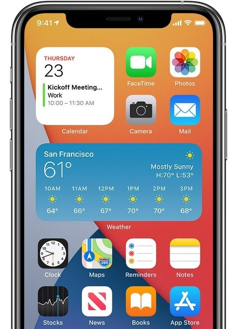 Widgets like the ones shown here on iPhone are available for every part of the iPad home screen in iPadOS 15. The report reveals changes Apple may announce for iOS 15 / iPadOS 15 at WWDC