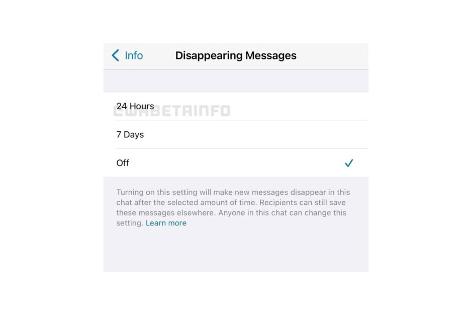 WhatsApp is currently said to be working on the new disappearing messages option - WhatsApp disappearing messages feature may offer more time options in the future