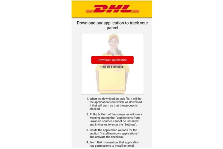 The real DHL will never ask you to do this - Scary new Android malware targets millions of users; here's how to keep your data safe