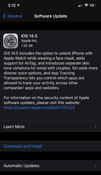 You can now install iOS 14.5 on your iPhone - Apple finally releases iOS 14.5