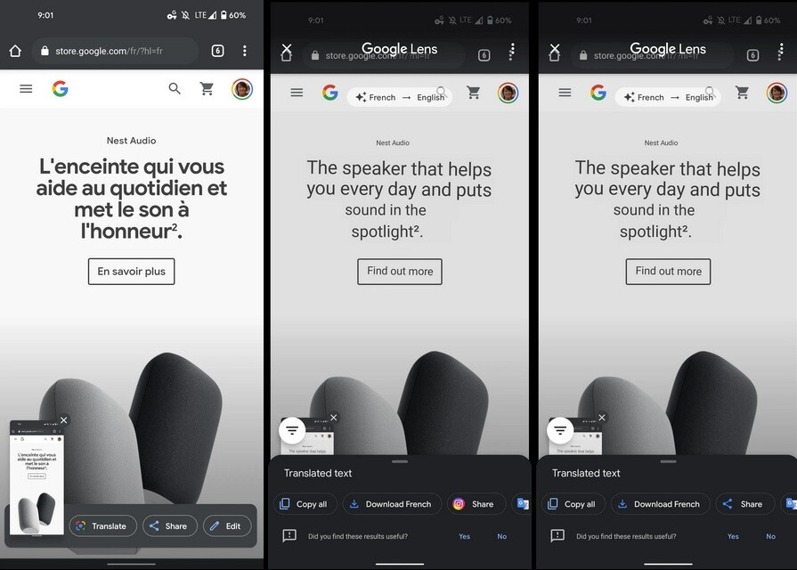Google Lens Translate has surfaced in the Android 11 Screenshot UI - Google Lens shortcut is tested on Pixel Launcher search bar