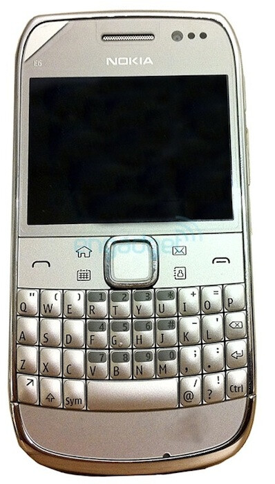 Images courtesy of Engadget - Nokia E6 surfaces in the wild