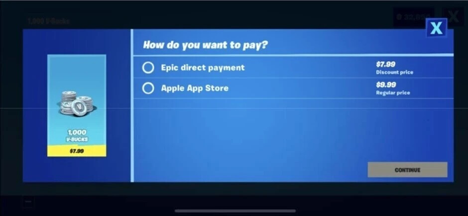 Epic created its own in-app purchase platform which led to the removal of Fortnite from the App Store - Epic CEO Sweeney feels the pressure during day two of the trial