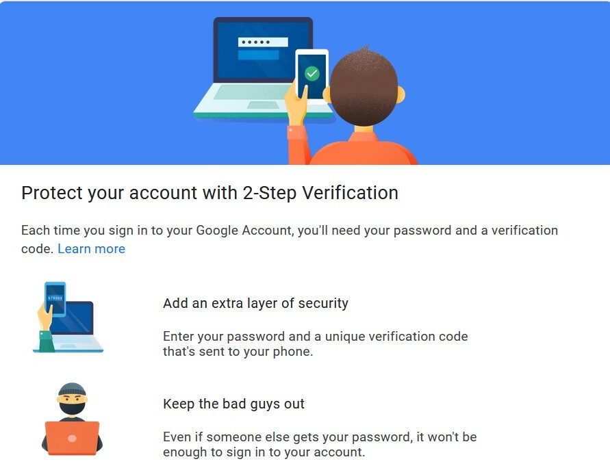 Google offers two-step verification to add another layer of security to your Google account - Google will enroll users in two-step verification to add a layer of security