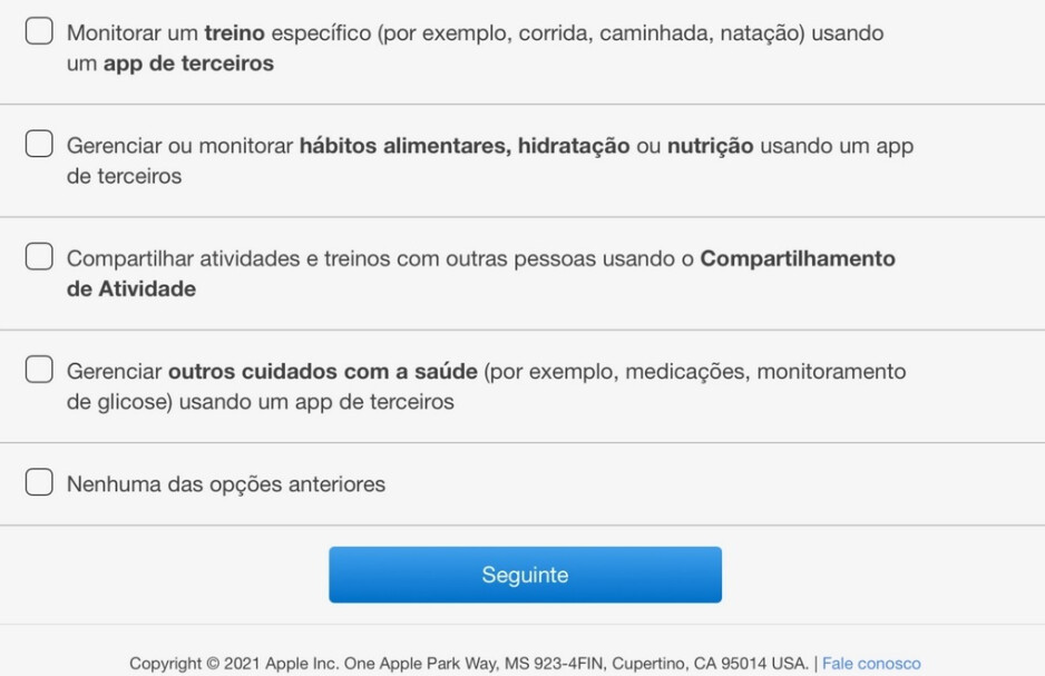 In Brazil Apple sends out a survey that mentions glucose monitoring - Apple appears ready to save diabetics large sums of money and plenty of pain
