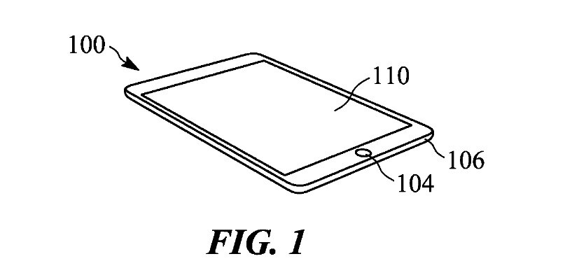 Image of an iPad from Apple's latest patent - New patent award suggests that Apple is testing 3D for the iPhone and iPad