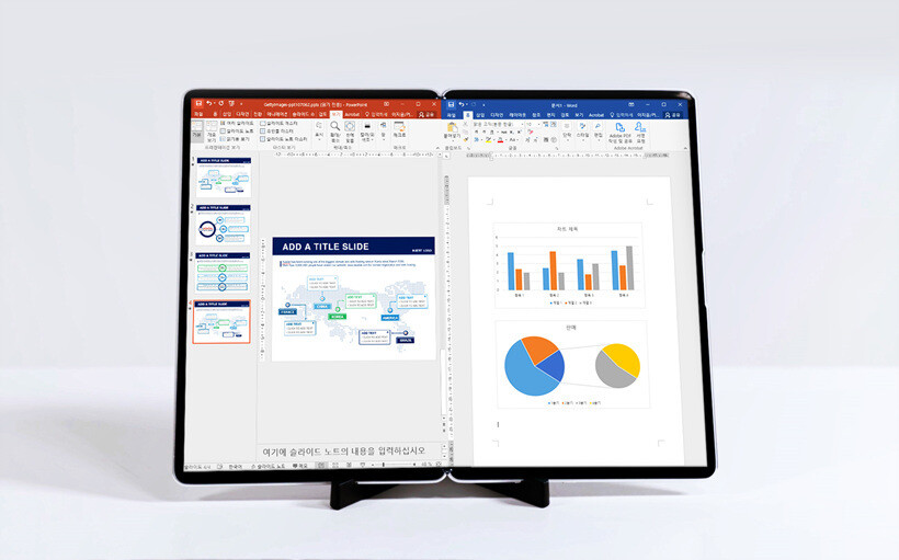 This display carries a -  aspect ratio and opens up to become a 17-inch PC monitor - Samsung plans on revealing these foldable screens this week