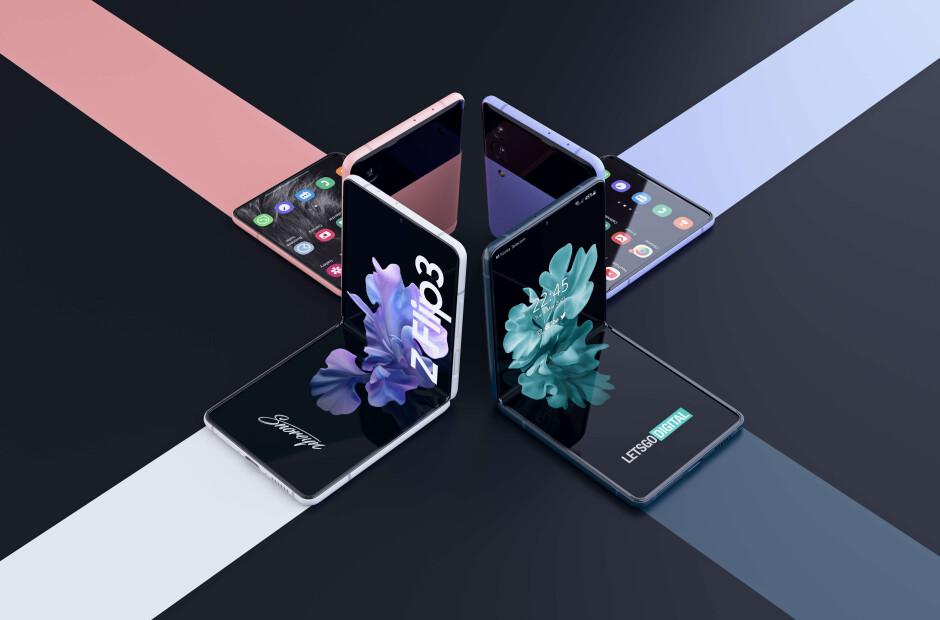 Samsung Galaxy Z Flip 3 concept — Snoreyn x LetsGoDigital - Samsung sets big sales targets for foldable Galaxy Z Fold 3 and Flip 3