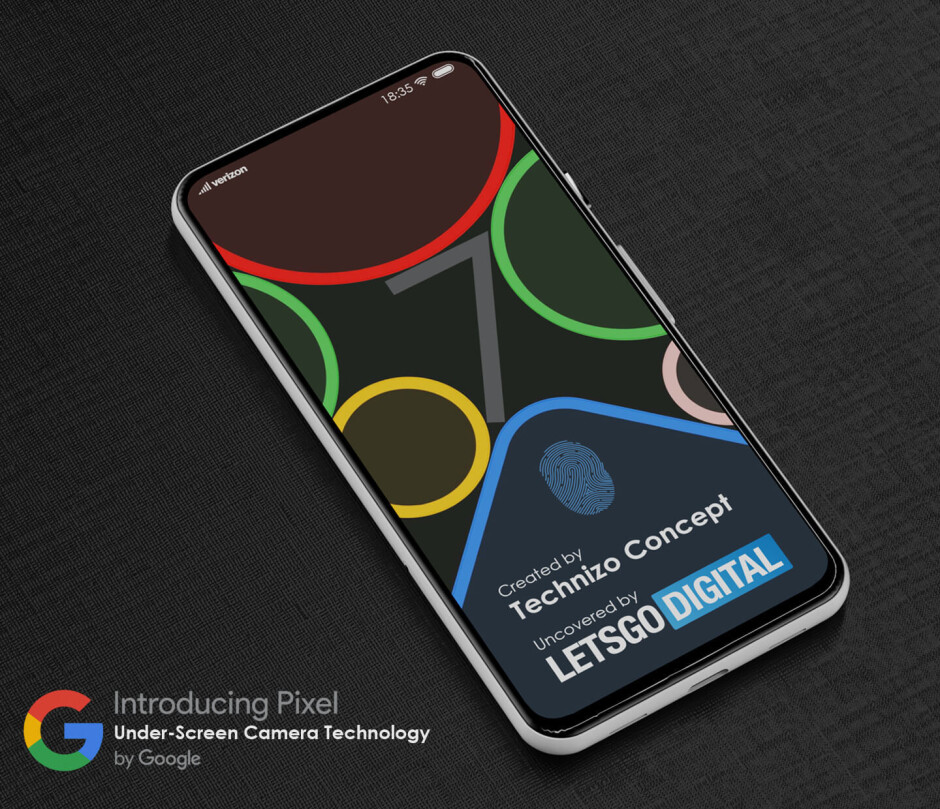 Pixel 7 concept - Google files patent for under-display camera designed for an upcoming Pixel model