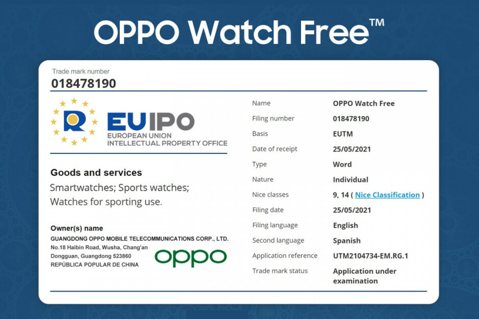 """Oppo is planning a new smartwatch: the """"Oppo Watch Free"""""""
