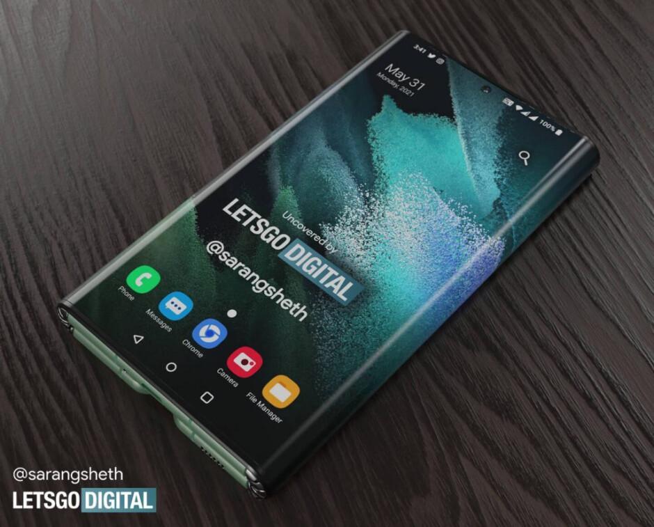 Lorsqu'il est fermé, le Samsung Galaxy Z Fold Tab peut être utilisé comme un smartphone - le Galaxy Z Fold Tab à trois volets apparaît avec deux charnières et un grand écran semblable à une tablette