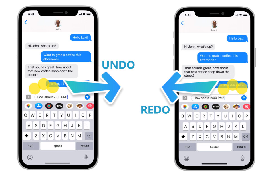 How to undo/redo on an iPhone