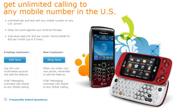 Add unlimited messaging to a qualifying plan and get unlimited Mobile to any Mobile calling from AT&T