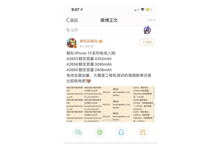 Alleged iPhone 13 battery capacity - iPhone 13 series battery capacity leaked;  The Pro Max model to get a significant boost