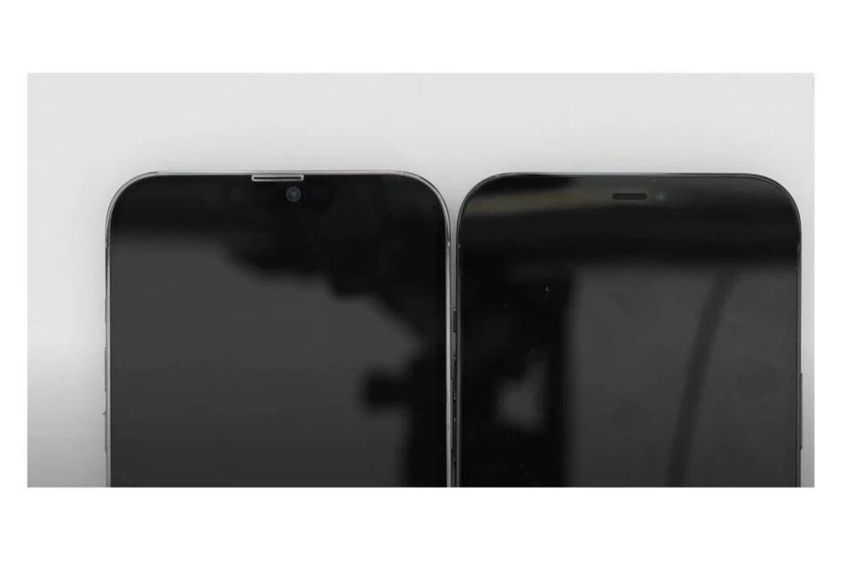 Alleged iPhone 13 Pro Max dummy device vs iPhone 12 Pro Max - iPhone 13 series battery capacity leaked;  The Pro Max model to receive a significant boost