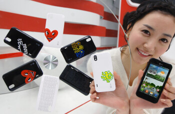 "LG collaborates with the Keith Haring Foundation ""to create iconic back covers for the Optimus Black"""