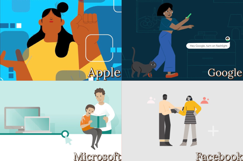 Dear Apple, Google and Facebook, enough with this art style