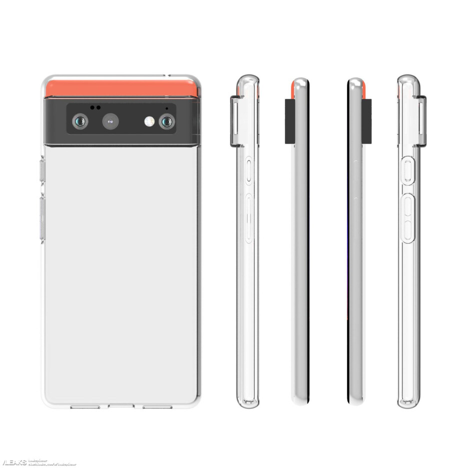 Pixel 6 - Images of cases for the 5G Pixel 6 and Pixel 6 Pro match renders of the new phones
