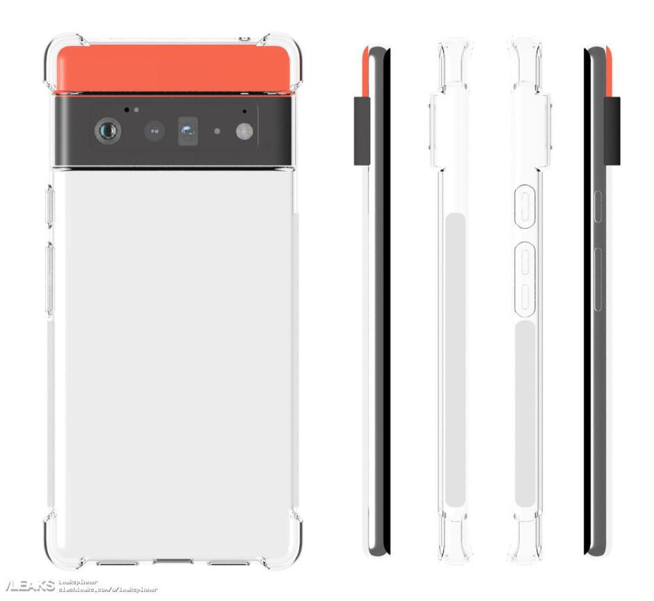 Pixel 6 Pro - Images of cases for the 5G Pixel 6 and Pixel 6 Pro match renders of the new phones