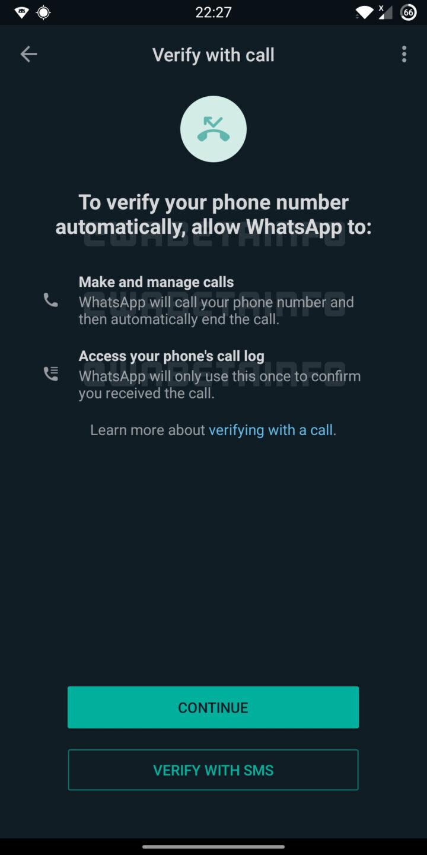 WhatsApp plans to add account verification via phone calls