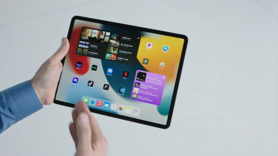 Bigger and freely-moveable iPadOS 15 widgets - iPadOS 15 is official – check out the new features!